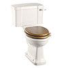 Burlington Medici Close Coupled Traditional Toilet - Ceramic Lever Flush profile small image view 1