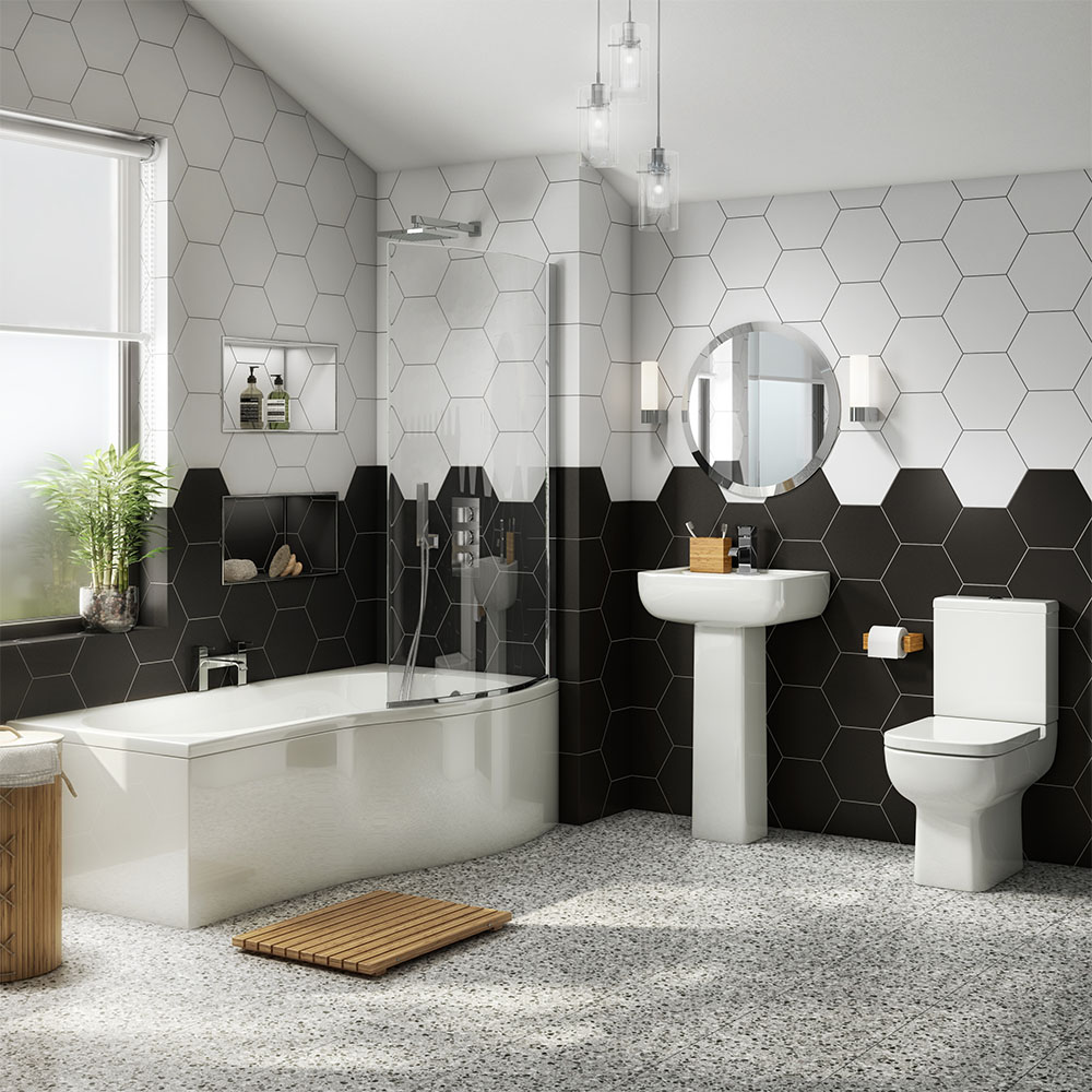 Pro 600 Modern Shower Bath Suite