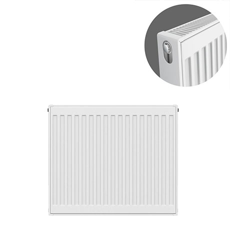 Type 21 H600 x W600mm Double Panel Single Convector Radiator - P606K