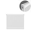 Type 21 H600 x W600mm Double Panel Single Convector Radiator - P606K profile small image view 1