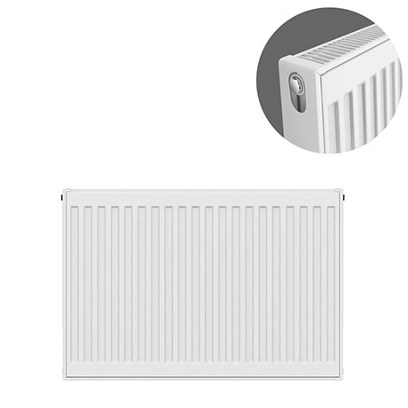 Type 21 H600 x W700mm Double Panel Single Convector Radiator - P607K
