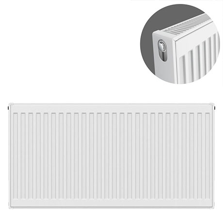 Type 21 H600 x W900mm Double Panel Single Convector Radiator - P609K