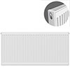Type 21 H600 x W1200mm Double Panel Single Convector Radiator - P612K profile small image view 1