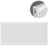 Type 21 H600 x W1300mm Double Panel Single Convector Radiator - P613K profile small image view 1