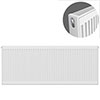 Type 21 H600 x W1400mm Double Panel Single Convector Radiator - P614K profile small image view 1