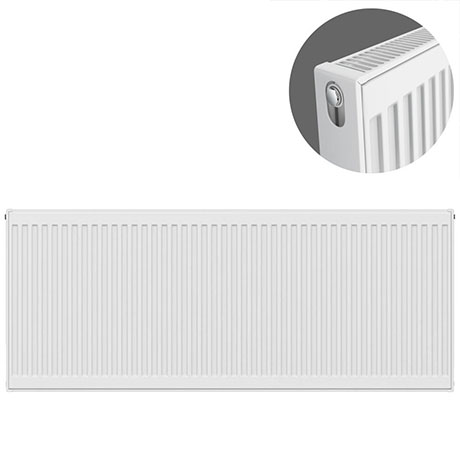 Type 21 H600 x W1500mm Double Panel Single Convector Radiator - P615K