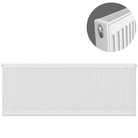 Type 21 H600 x W1600mm Compact Double Convector Radiator - P616K
