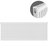 Type 21 H600 x W1600mm Compact Double Convector Radiator - P616K profile small image view 1