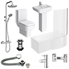 Pro 600 B-Shaped 1700 Complete Bathroom Package profile small image view 1