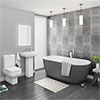 Pro 600 Grey Modern Free Standing Bath Suite profile small image view 1