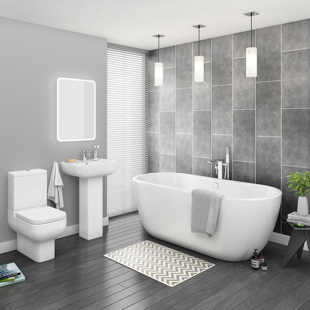 Pro 600 Modern Free Standing Bath Suite