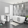 Pro 600 Modern Free Standing Bath Suite profile small image view 1