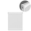 Type 21 H750 x W400mm Double Panel Single Convector Radiator - P704K profile small image view 1