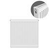 Type 21 H750 x W600mm Double Panel Single Convector Radiator - P706K profile small image view 1