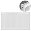 Type 21 H750 x W1000mm Double Panel Single Convector Radiator - P710K profile small image view 1