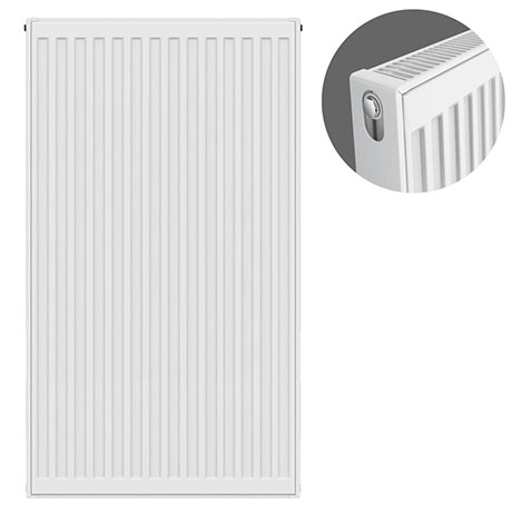 Type 21 H900 x W500mm Double Panel Single Convector Radiator - P905K
