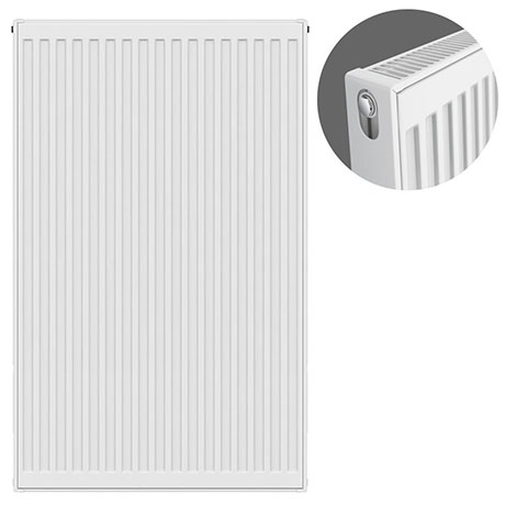 Type 21 H900 x W600mm Double Panel Single Convector Radiator - P906K