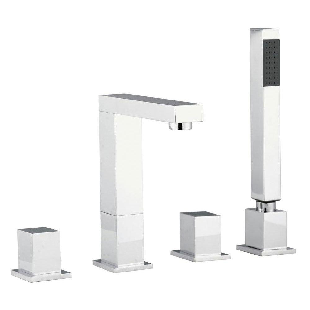 Hudson Reed Designer Kubix 4 Tap Hole Bath Shower Mixer profile large image view 1