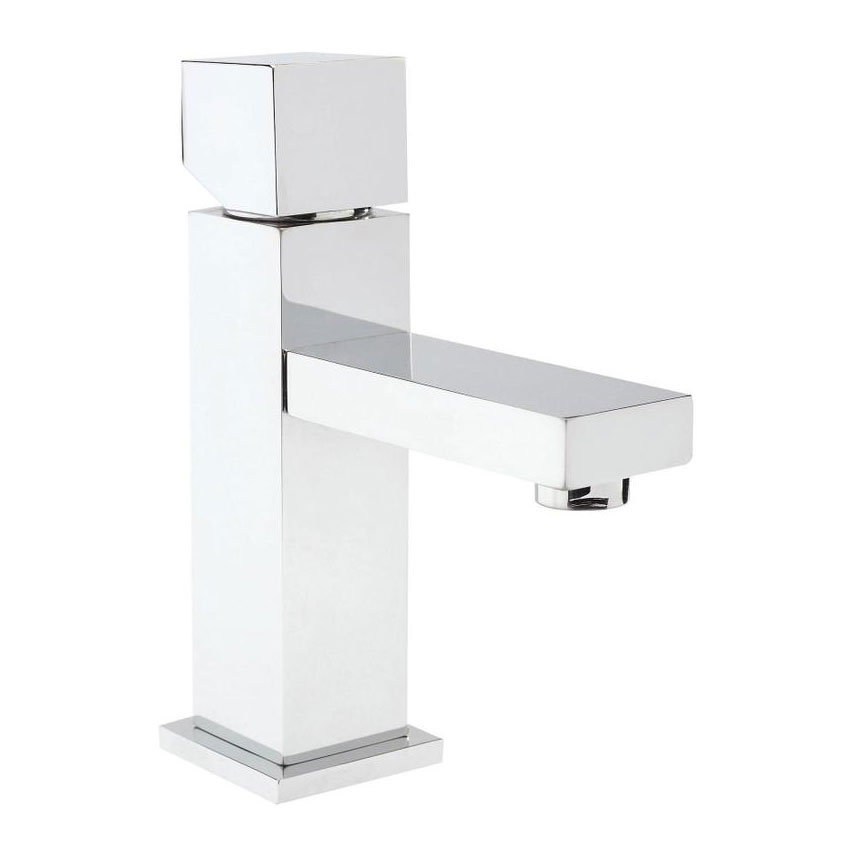 Hudson Reed Kubix Mono Basin Mixer w/ Push Button Waste - Chrome - PA355 profile large image view 1