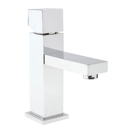 Hudson Reed Kubix Mono Basin Mixer w/ Push Button Waste - Chrome - PA355