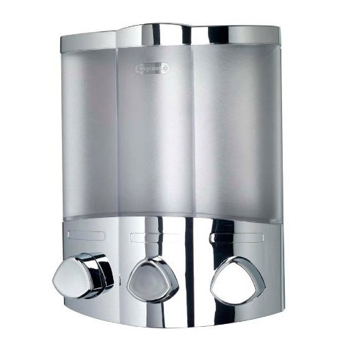 Croydex Euro Soap Dispenser Trio - Chrome - PA661041 Large Image