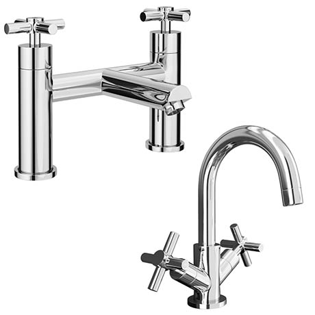 Pablo Modern Tap Package (Bath + Basin Tap)