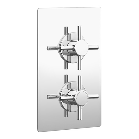 Pablo Twin Crosshead Concealed Shower Valve - Chrome