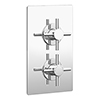 Pablo Twin Crosshead Concealed Shower Valve - Chrome profile small image view 1