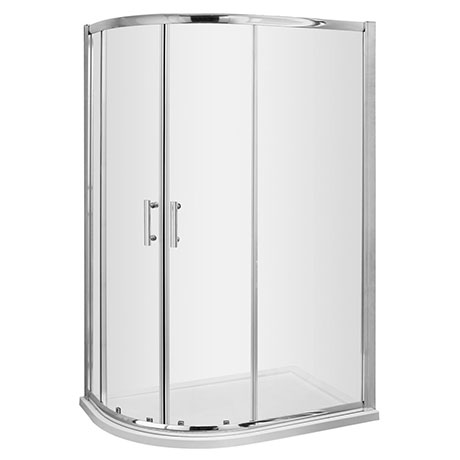 Pacific LH Offset Quadrant Shower Enclosure Inc. Tray + Waste