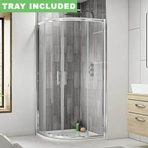 Pacific Quadrant Shower Enclosure Inc. Tray + Waste Medium Image