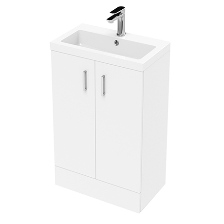 Pallas 500 Modern Gloss White Floor Standing Vanity Unit