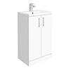 Pallas 500 Modern Gloss White Floor Standing Vanity Unit profile small image view 1