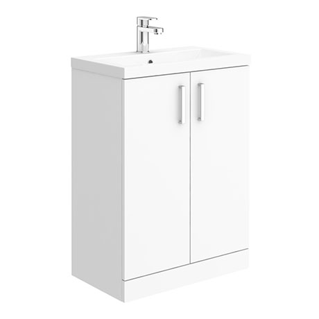Pallas 600 Modern Gloss White Floor Standing Vanity Unit