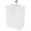 Pallas 600 Modern Gloss White Floor Standing Vanity Unit profile small image view 1