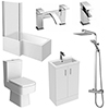 Pallas 500 Complete Modern Bathroom Package profile small image view 1