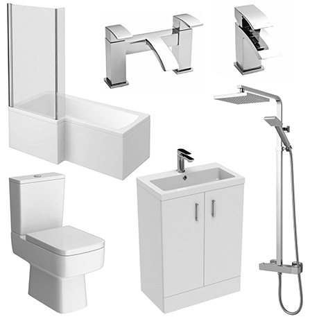 Pallas 600 Complete Modern Bathroom Package