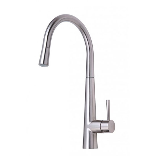 Mayfair - Palazzo GLO Mono Kitchen Tap with Pull Out Head - Brushed Nickel - KIT165 profile large image view 1