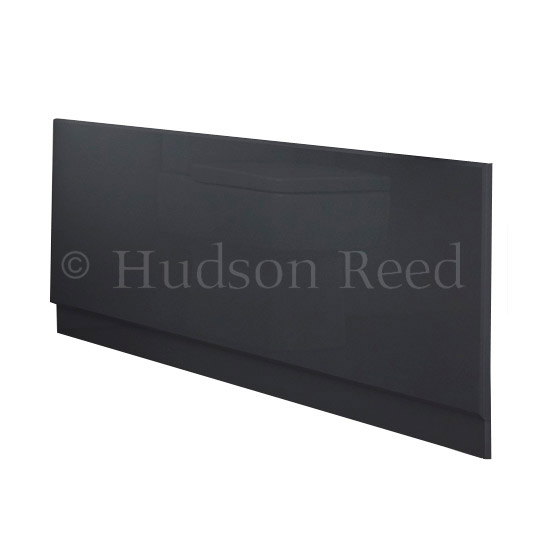 Hudson Reed High Gloss Grey Front Bath Panel profile large image view 2