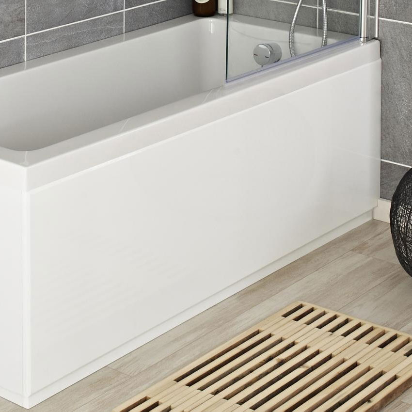 Hudson Reed High Gloss White Front Bath Panel - Various Size Options Large Image