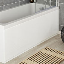 Hudson Reed High Gloss White Front Bath Panel - Various Size Options Medium Image