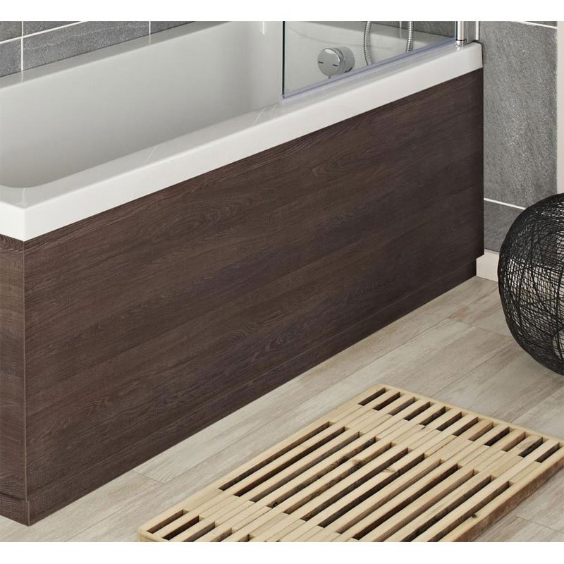 Hudson Reed Mid Sawn Oak Front Bath Panel profile large image view 1