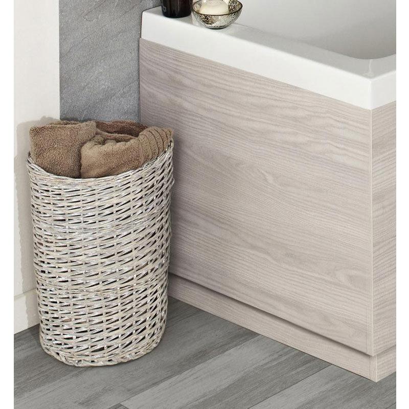 Hudson Reed White Sawn Oak End Bath Panel - 3 Size Options profile large image view 1
