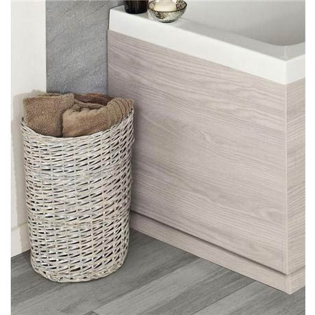 Hudson Reed White Sawn Oak End Bath Panel - 3 Size Options