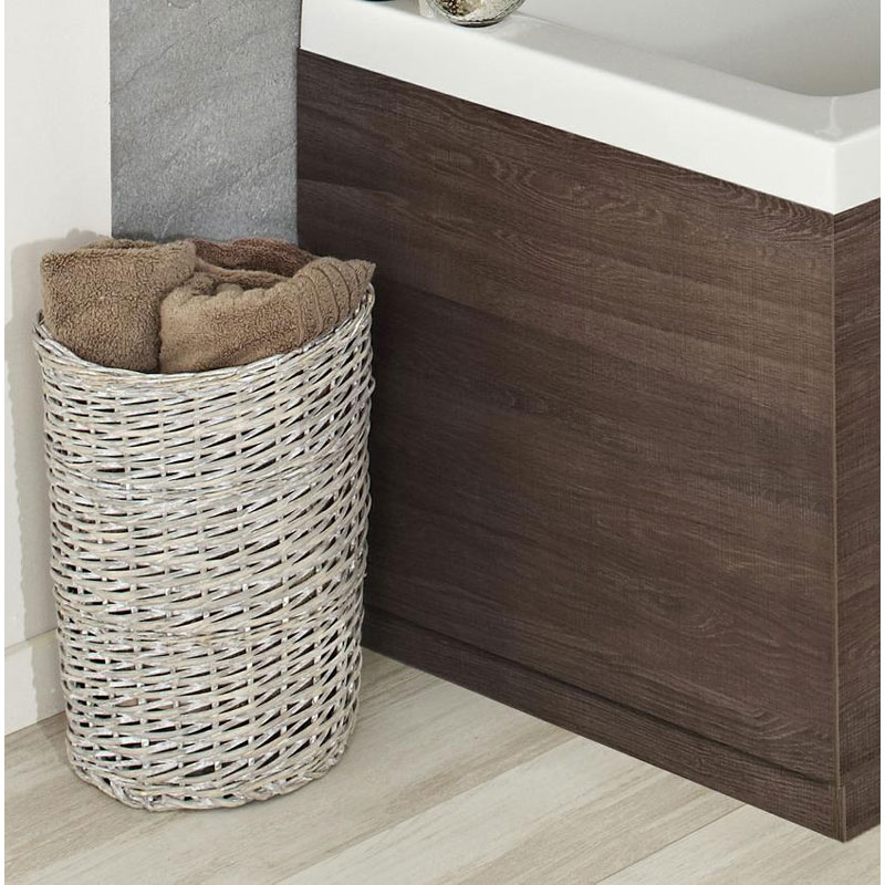 Hudson Reed Mid Sawn Oak End Bath Panel - Various Size Options Large Image