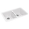 Rangemaster Paragon Undermount Crystal White 2.0 Bowl Igneous Granite Kitchen Sink profile small image view 1