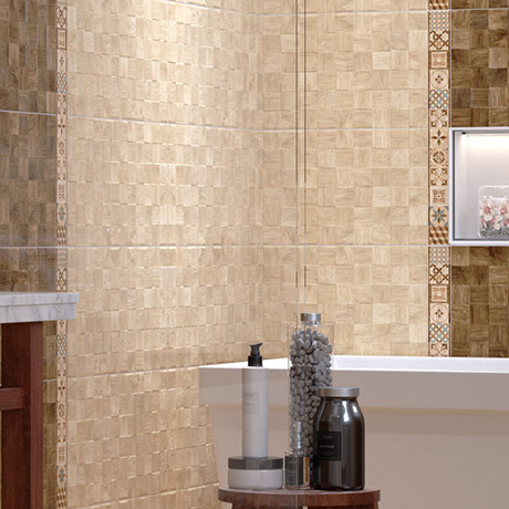 Paso Light Wood Effect Patchwork Wall Tiles - 300 x 600mm