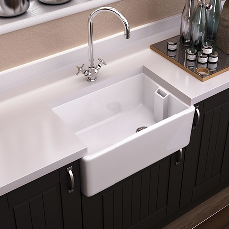 Period Bathroom Co. Belfast Ceramic Kitchen Sink - W610 x D457mm