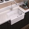 Period Bathroom Co. Belfast Ceramic Kitchen Sink - W610 x D457mm profile small image view 1