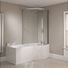 Sommer RH P-Shaped Shower Bath 1700mm (Inc. Sliding Screen and Acrylic Front Panel) profile small image view 1