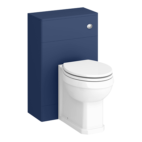 Period Bathroom Co. 500 Cobalt Blue Toilet Unit with Cistern + Traditional Pan
